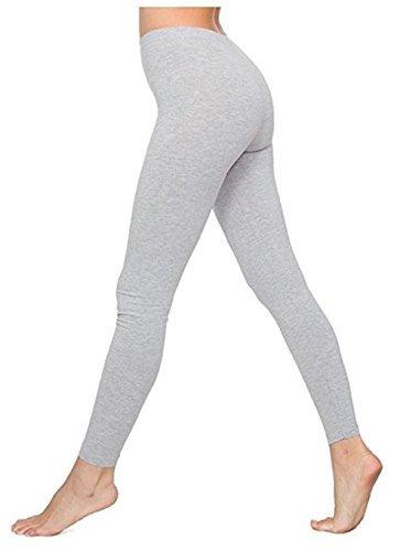 Funky Boutique Damen Leggings aus Baumwolle : Farbe - Aschfahl : Größe - 10 M