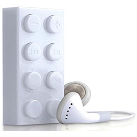 ultra ® Ladrillo de bloque de edificio blanco estilo Mp3 Reproductor incluyendo 2 gb Micro SD TF tarjeta de regalo perfecto o