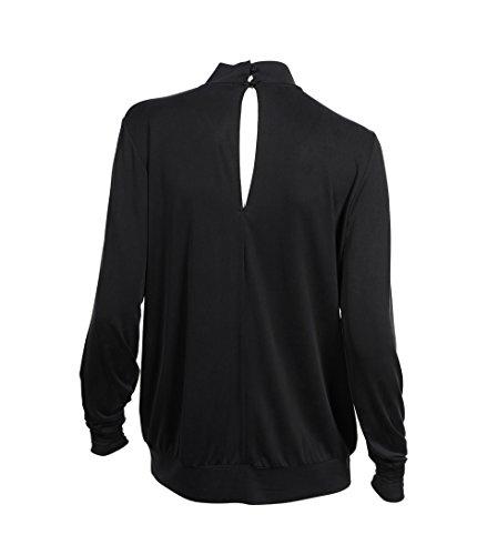 SECOND FEMALE Damen Bluse Hetian aus Viskose in Schwarz Black