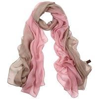 SIGI Damenmode Seidenschal Farbverlauf Schal Schals - rosa