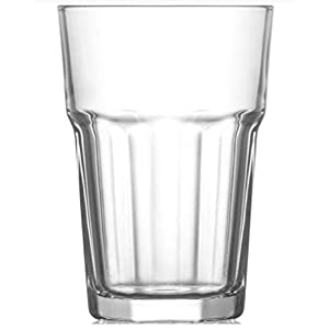 Trinkglas Cocktailglas Caipirinha Glas Transparent oder Farbig sortiert 300 ml, Stückzahl:6 Stück, Farbe:Transparent