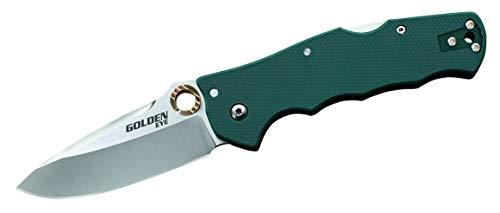 Cold Steel CS62QFGS Einhandmesser Klappmesser | Klingenlänge: 8,89 cm-Grün G10 Griff-Golden Eye Spear Point, Mehrfarbig