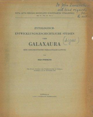 Zytologisch Entwicklungsgeschichtliche Studien uber Galaxaura eine Diplobiontische Nemalionales Gattung.