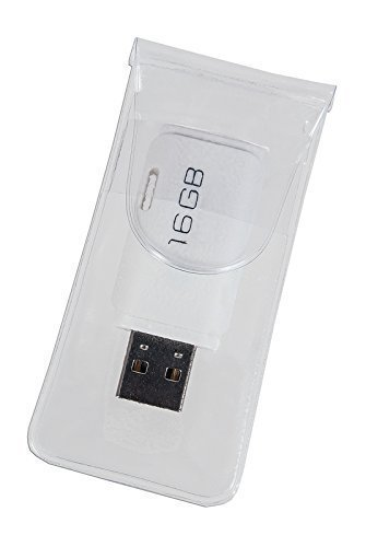 100 selbstklebende USB-Hüllen aus transparenter Folie, offenes Maß: 40 x 126 mm - Folie Usb