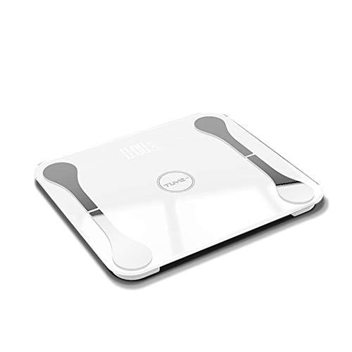 LXRZLS Aufladen der Körperfettwaage Schlankes Design, for Zuhause, Küche, Elektronische Multifunktionswaage APP Bluetooth Smart Weight Scale (Color : White)
