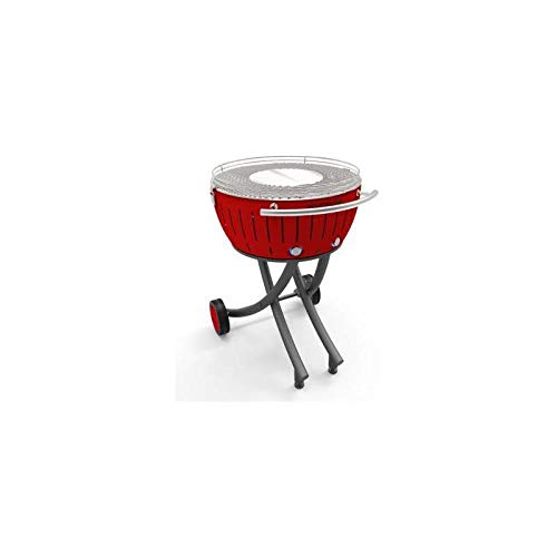 LotusGrill XXL Barbecue a carbonella, Rosso Fuoco, 78x 78x 48cm