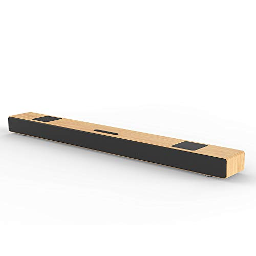 Barra sonido madera hecha mano altavoz cine casa TV
