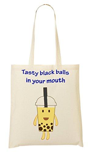 C+P Tasty Black Balls In Your Mouth Tragetasche Einkaufstasche