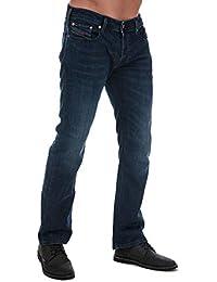Diesel Mens Zatiny Bootcut Jeans in Denim- Button Fly