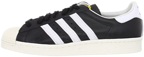 adidas Originals SUPERSTAR 80S Chaussures Mode Sneakers Blanc Noir (Black/white/chalk)