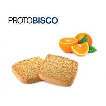 Galleta proteica Protobisco - 2 Galletas de Naranja - Rico en proteína y fibra - (50 gr, 2x25 gr) -...