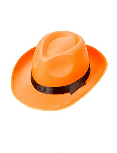 Hut Gangster 20er Jahre Mafioso Mafia Blues Brother Orange Fedora Al C -