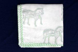 handicraftofpinkcity main bloc Imprimé pour bébé, en coton Voile doux blancket