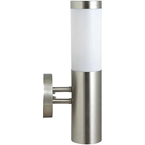 Alloggiamento in acciaio inox resistente alle intemperie di LED 4,5 Watt moderno parete lampada da (Rivestita Di Gomma Di Caso)