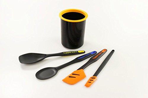Tupperware Poignée prêts à spatule + Mélangeur/cuillère de service + Petit Grattoir + ordre Pot P 27186