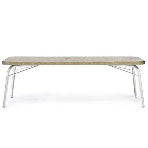 Paris Prix - Table Basse Design Ashburn 125cm Chêne & Blanc