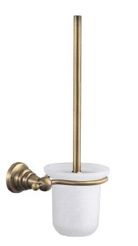 Taccy scopino WC in ottone, con finitura bronzo antico lucido con vetro smerigliato bottiglia # QL26