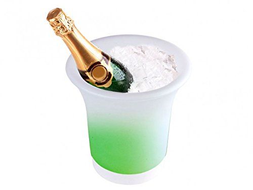 LED Flaschenkühler mit Farbwechsler - Sektkühler - Weinkühler - Getränkekühler - Kühler für Wasser, Wein, Sekt, Champagner, Saft - Sektkübel - Eiskübel - Eiseimer