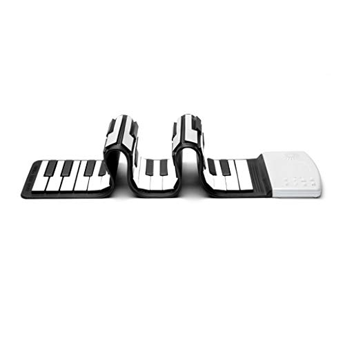 ASDFGH Hand Roll Up Piano Flexible Piano Tragbarer 49 Tasten Thick Tastatur Early Education Spielzeug Musikinstrumente for Anfänger und Kinder (Color : Black)