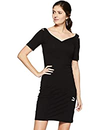f225bf3ca Puma Classics T7 Dress Vestido, Mujer, Cotton Black, Medium