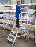 Aluminium-Podestleiter, una Cara Accesible, 6 Stufen Altura de Trabajo Ca. 3,50 M