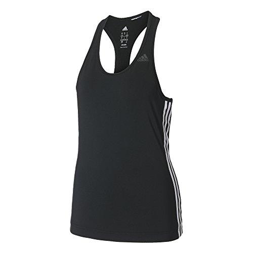adidas Damen D2M 3-Streifen Tanktop, Black, S
