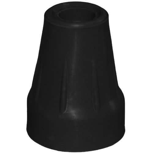 Krückenkapsel für Unterarmstütze, mit Stahleinlage 18/19mm, schwarz - Saugkapsel Gummipuffer