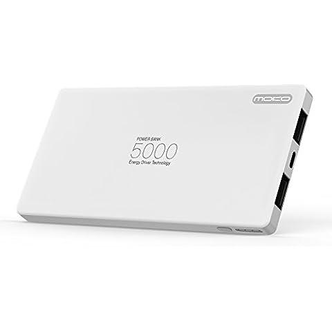 MoKo Batería Externa Portátil, 5000mAh Ultra Slim Aluminio Cargador costruido Lightning Cable Paquete de External Battery para Apple iPhone SE / 6s / 6s Plus, iPad Mini 4, iPad Pro,