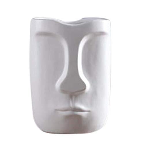 Moligh doll Nordischer Minimalismus Abstrakte Keramik Vase Gesicht Kunst Ausstellung Hallen Dekoration Kopf Form Vase Gro?er Mund Wei?