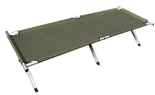 Lit de Camp Grand Stable et Renforcé US Army avec Sac de Transport - Olive