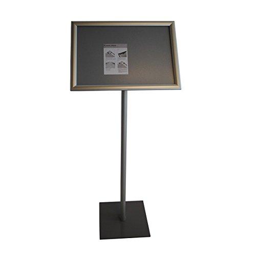 Präsentationsständer Infoständer Menüständer 4-eckiger Fußplatte DIN A3