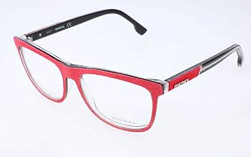 Diesel Unisex-Erwachsene DL5191 068-54-15-145 Brillengestelle, Rot, 54