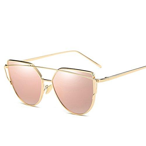 ZHANGYUSEN Fashion Sunglasses Women Cat Eye Sun Glasses For Ladies Retro Vintage Mirror Lens Sexy Eyewear Cheap,Barbie Pink Hot Sale