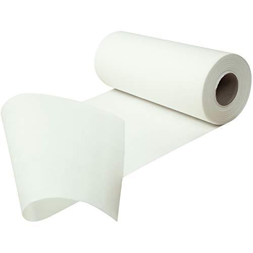 Fachhandel für Vliesstoffe Sensalux Tischläufer, Länge: 25m, stoffähnliches Vlies, Oeko-TEX Standard 100 - Klasse I, Farbe + Breite wählbar (Breite: 30 cm, Länge: 25 m, Weiß)