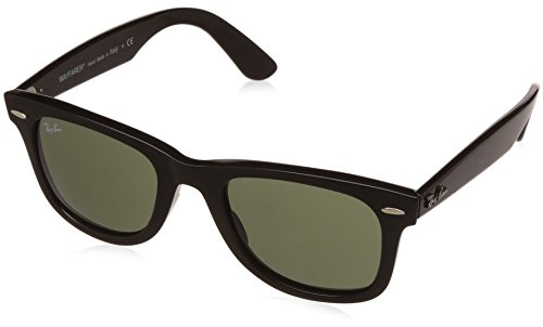 Ray-Ban RAYBAN Unisex-Erwachsene Sonnenbrille 4340, Black/Green, 50