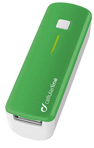 Cellular Line Pocket Charger Smart Caricabatteria USB Portatile, 2200 mAh, Verde