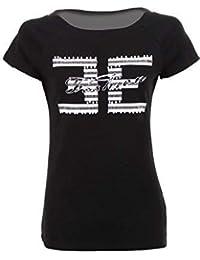 Sapphire Boutique by Sapphire Zafiro Boutique para Dama Liso Heather Manga Corta Pedrería Perla Estampada Camiseta
