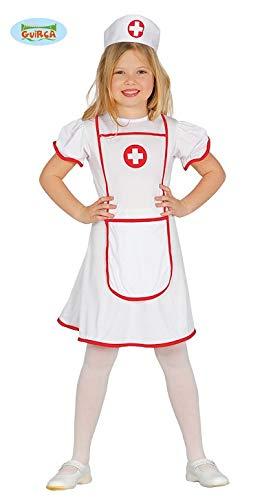 Guirca Krankenschwester-Kostüm für Kinder, 7-9 Jahre, - Krankenschwester Kostüm Kind