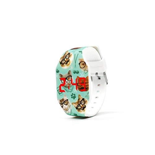 Botón de reloj manual de operación: Características: Este reloj es un reloj LED táctil, generalmente en modo de espera (pantalla negra); debe presionar el botón para ver la hora, y luego volver al modo de ahorro de energía en espera después de 5 segu...