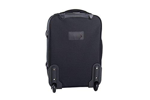 31KKfaGCqGL - Maleta semirrígida PIERRE CARDIN negro mini equipaje de mano ryanair VS11