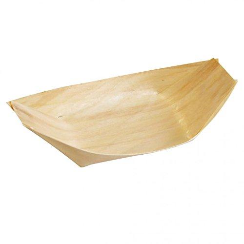 BIO Holz-Schälchen, Einwegschiffchen aus Pinienholz, umweltfreundliches Einweggeschirr, Fingerfood Schale, kompostierbare Einwegteller, 2000 Stück, Größe:6.5 cm/4.2 cm Ø (6,5 cm/4,2 cm)