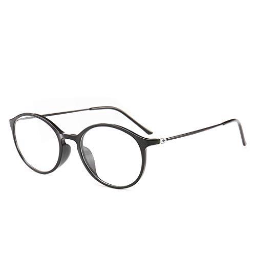Shiduoli Unisex-Retro-Brillengestell Mode Brillen Nicht verschreibungspflichtige Brillen für Frauen (Color : Black)