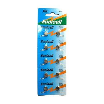 20 x Eunicell AG2 Alcaline piles plates batterie cellule - G2 LR59 LR726 SR726W 396 397