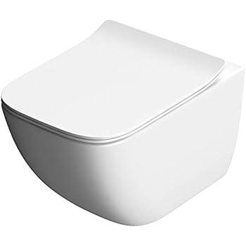 à monter au mur WC toilette suspendu sans bride abattant ...