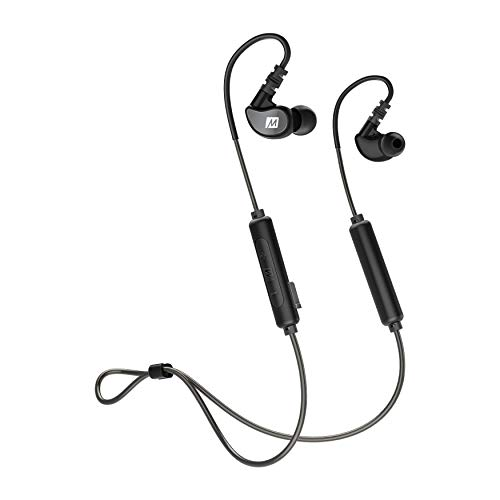 MEE audio M6B Bluetooth Wireless Sweatproof Sports in-Ear Headphones with Headset 2019 Version