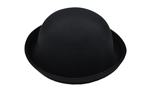 Automne Mme Laine Dôme Chapeau Fedora Flanger Petit Chapeau Chapeau Voyage Vintage Dames Chapeaux Black