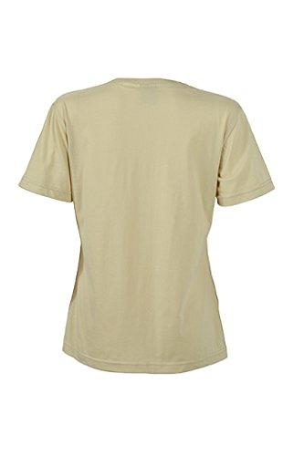 JAMES & NICHOLSON Damen Strapazierfähiges und pflegeleichtes T-Shirt Stone