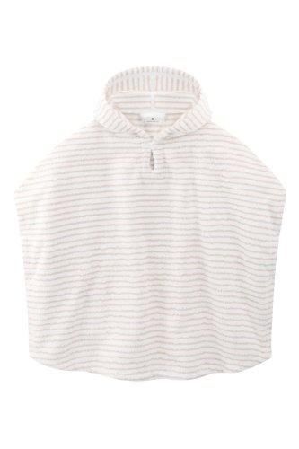 bellybutton 10893 gestreifter Frotteeponcho, Mehrfarbig (weiß-beige)