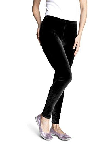 Soxon Nicki-Hose - Die flauschige Wohlfühl-Hose für kalte Wintertage (S/M, Schwarz) (Fleece Leggings)