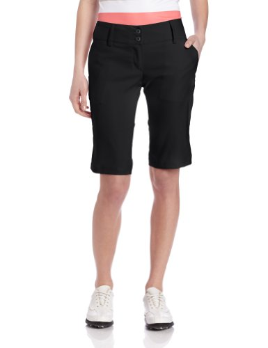 adidas Climalite Stretch Twill Bermuda, Damen, schwarz/weiß, 0 US - Stretch Twill-bermuda